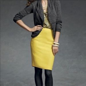 Cabi polyester lined women's yellow pencil skirt 6